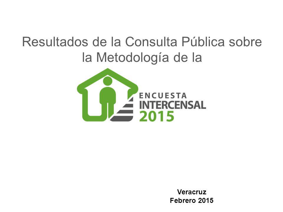 Resultados de la Consulta Pública sobre la Metodología de la Veracruz Febrero 2015
