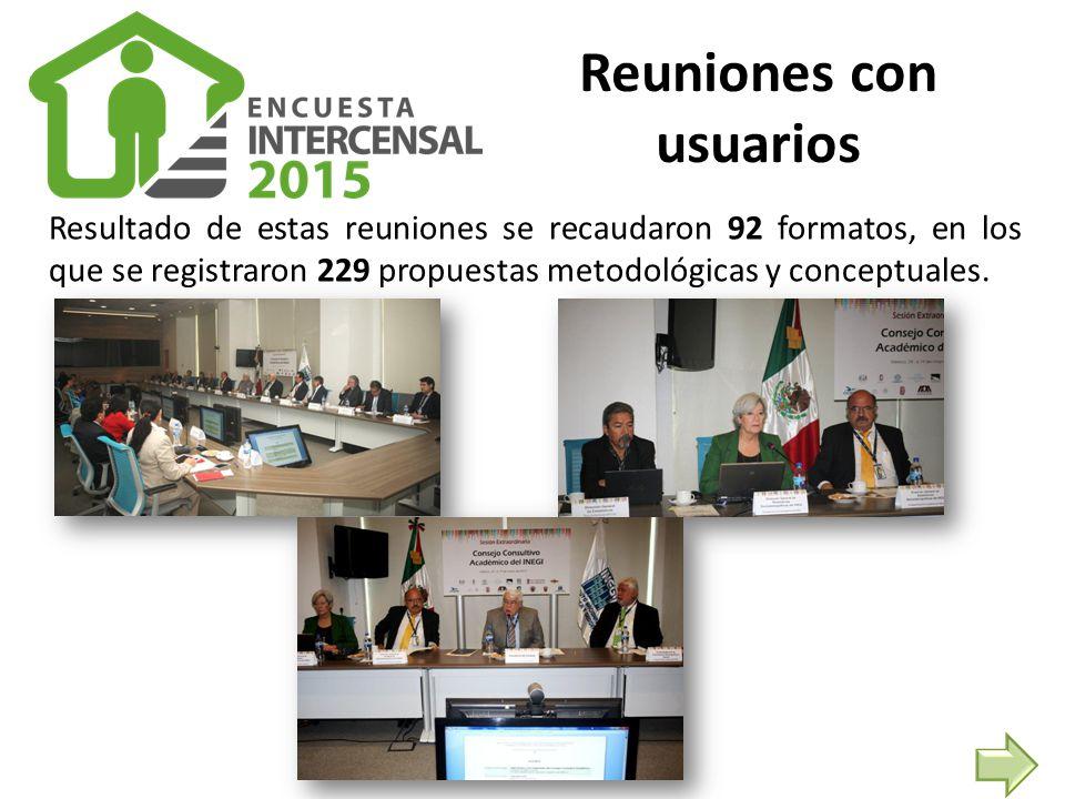 Resultado de estas reuniones se recaudaron 92 formatos, en los que se registraron 229 propuestas metodológicas y conceptuales.