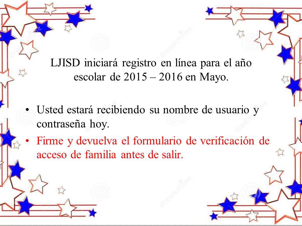LJISD iniciará registro en línea para el año escolar de 2015 – 2016 en Mayo.