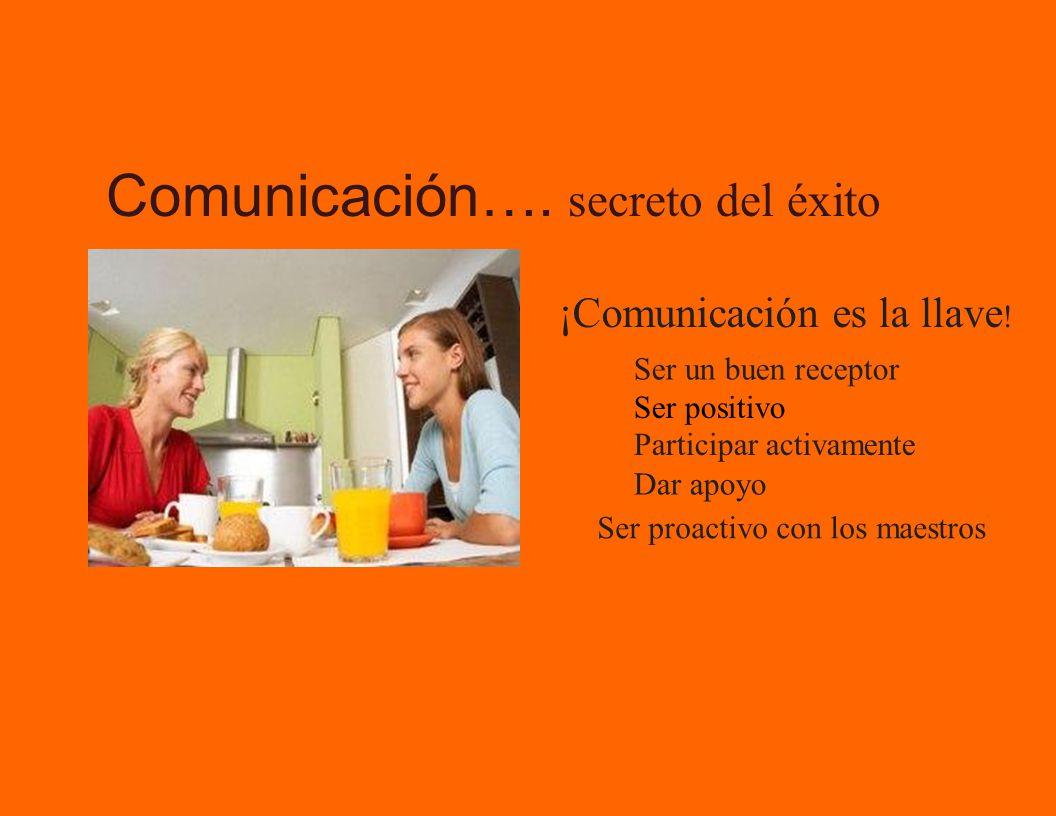 ¡Comunicación es la llave .