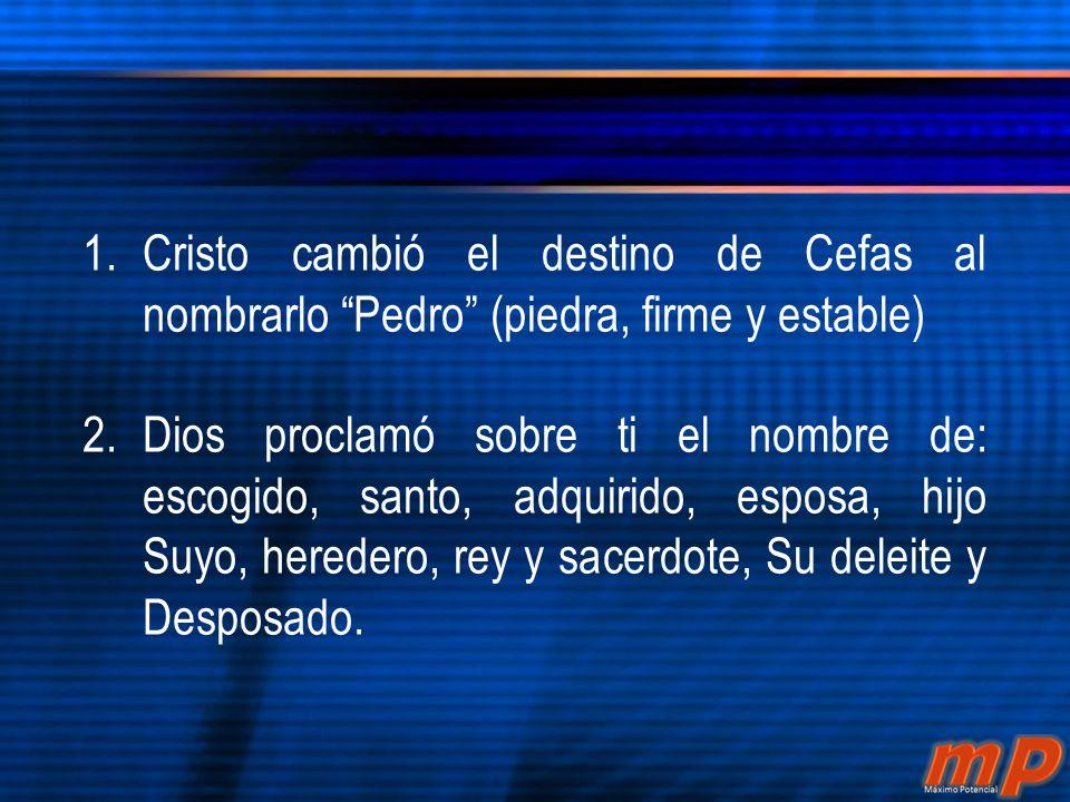 Juan 1:42 Jesús mirándolo, dijo: Tú eres Simón, hijo de Juan; tú serás llamado Cefas, que quiere decir Pedro (Piedra).