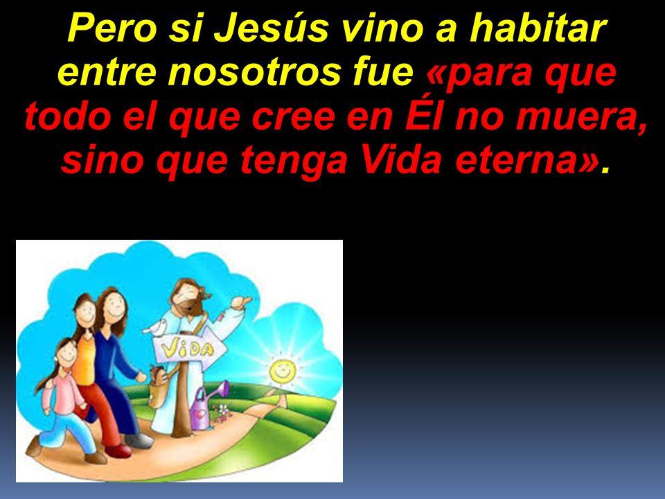 Pero si Jesús vino a habitar entre nosotros fue «para que todo el que cree en Él no muera, sino que tenga Vida eterna».