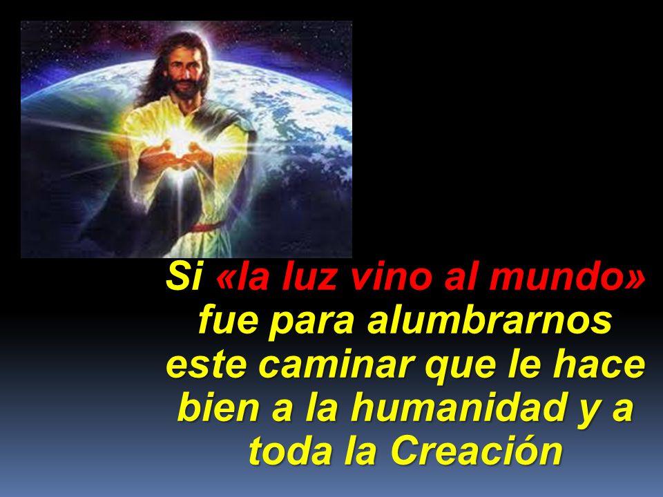 Si «la luz vino al mundo» fue para alumbrarnos este caminar que le hace bien a la humanidad y a toda la Creación