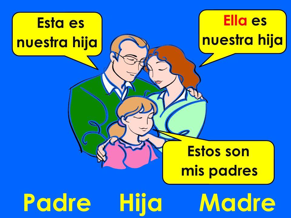 PadreMadreHija Esta es nuestra hija Ella es nuestra hija Estos son mis padres