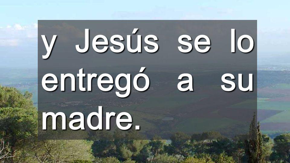 La PALABRA de Jesús levanta al que estaba muerto Cuando Dios toca la muerte, nosotros tocamos la VIDA