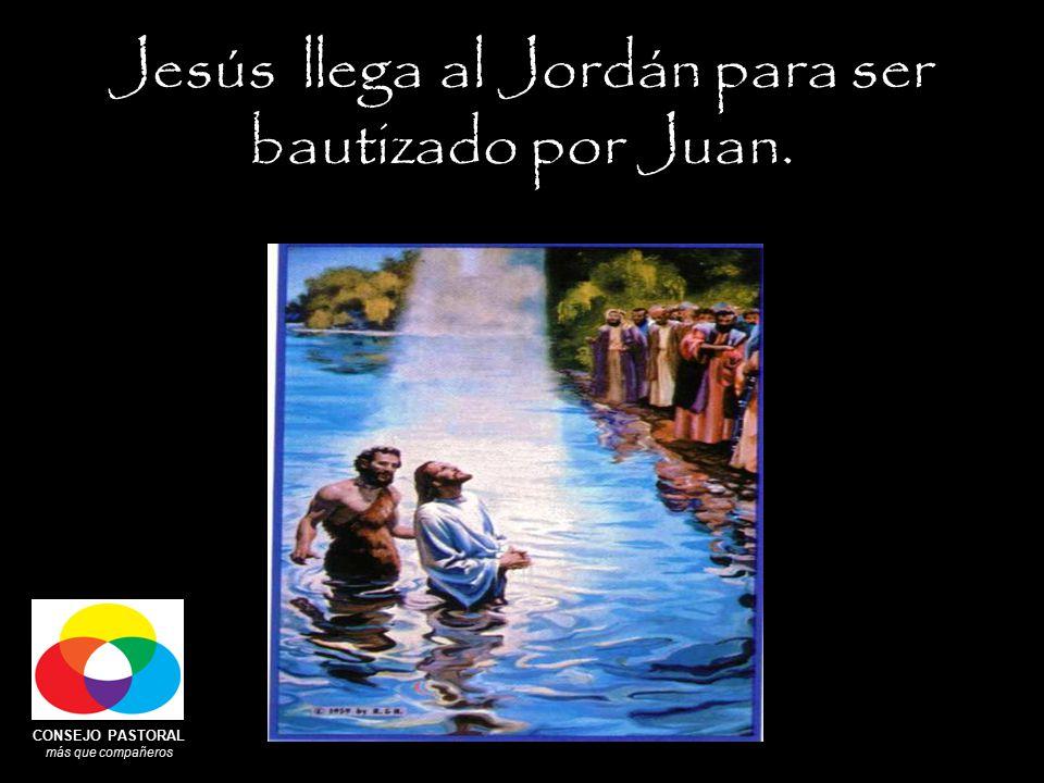 CONSEJO PASTORAL más que compañeros Jesús llega al Jordán para ser bautizado por Juan.