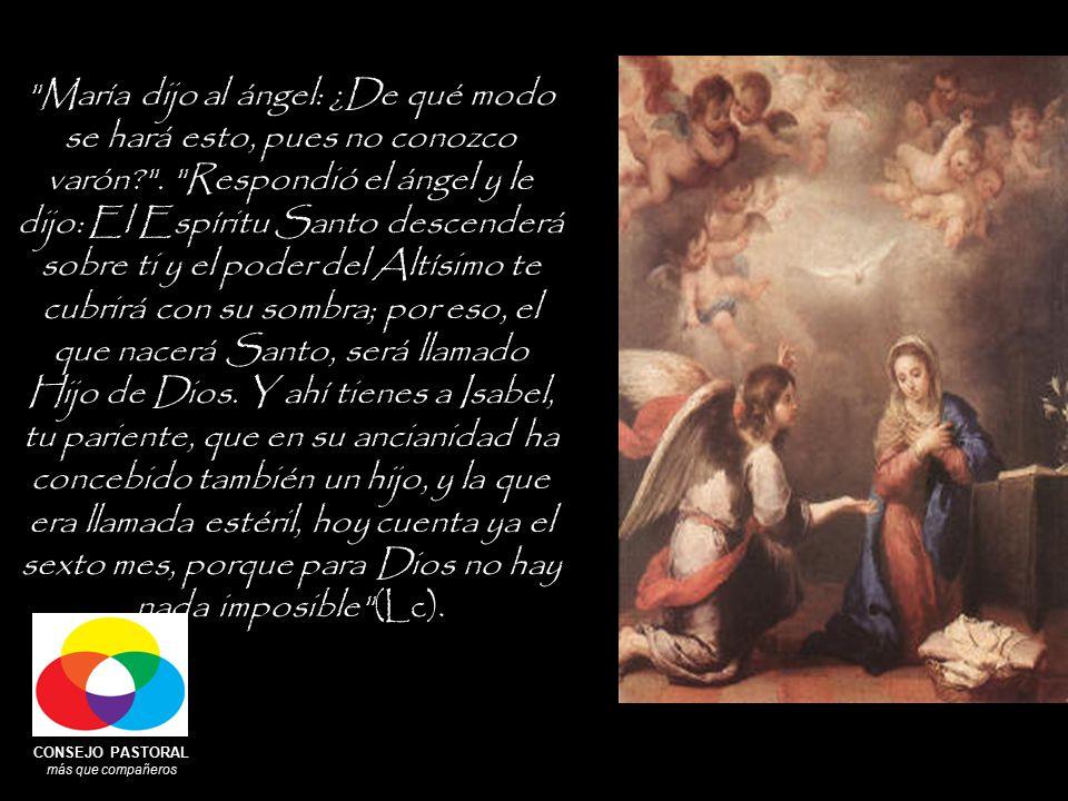CONSEJO PASTORAL más que compañeros María dijo al ángel: ¿De qué modo se hará esto, pues no conozco varón .