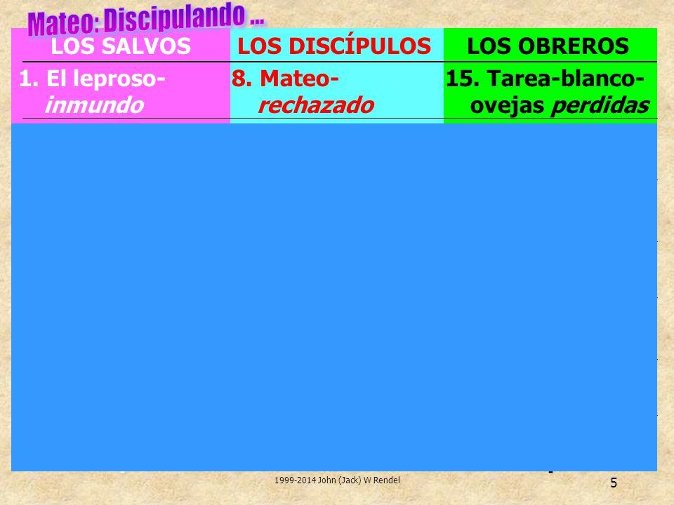 1999-2014 John (Jack) W Rendel 5 LOS OBREROS 15. Tarea-blanco- ovejas perdidas 16.