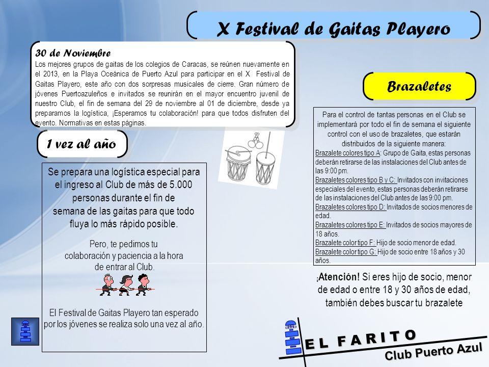 Club Puerto Azul E L F A R I T O Se prepara una logística especial para el ingreso al Club de más de 5.000 personas durante el fin de semana de las gaitas para que todo fluya lo más rápido posible.