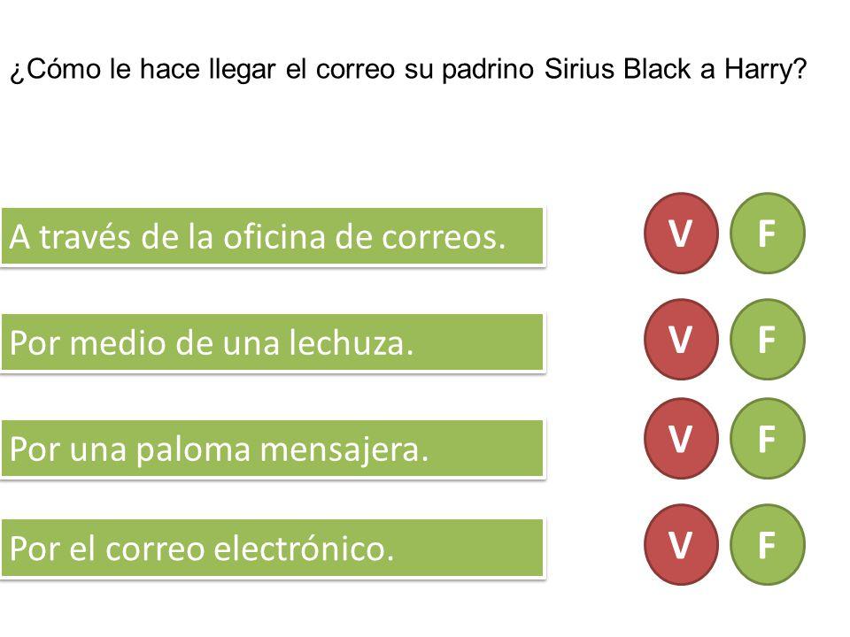 ¿Cómo le hace llegar el correo su padrino Sirius Black a Harry.