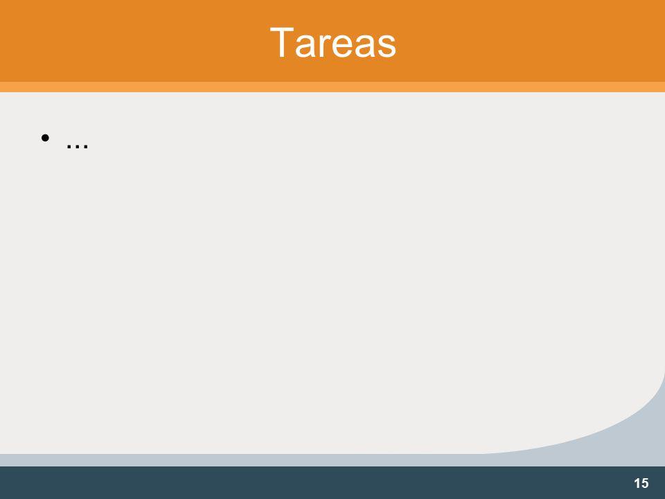 15 Tareas...