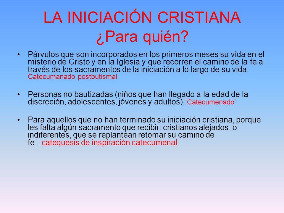 LA INICIACIÓN CRISTIANA ¿Para quién.