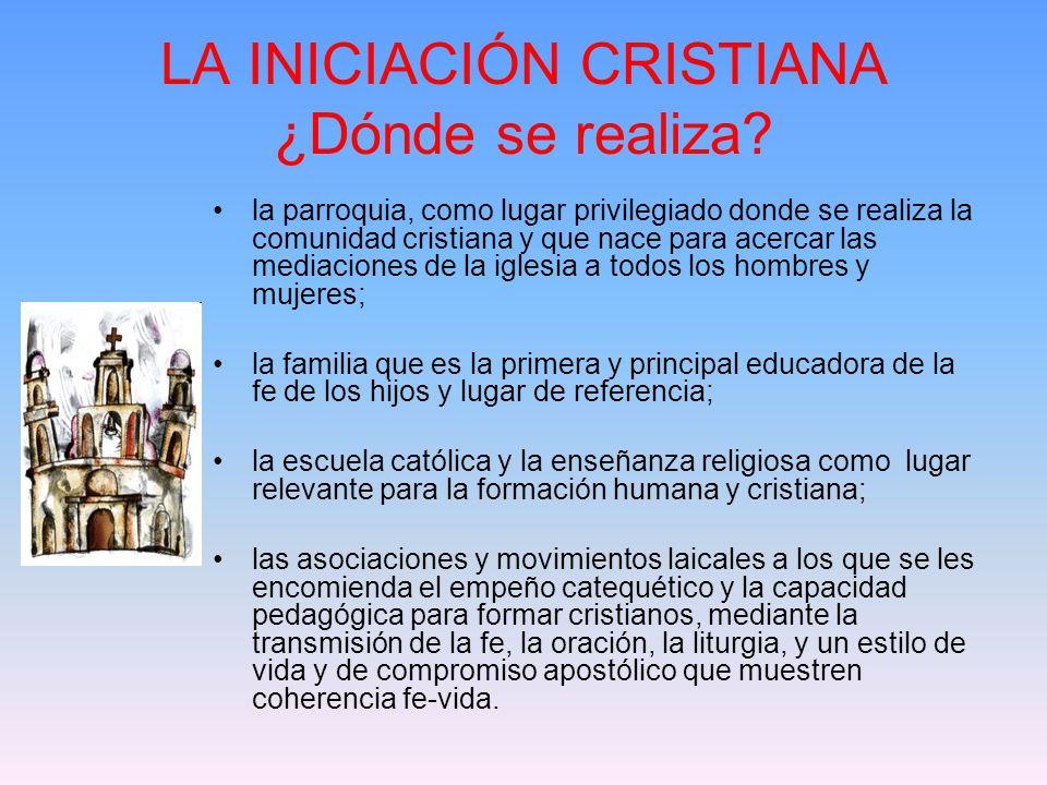 LA INICIACIÓN CRISTIANA ¿Dónde se realiza.