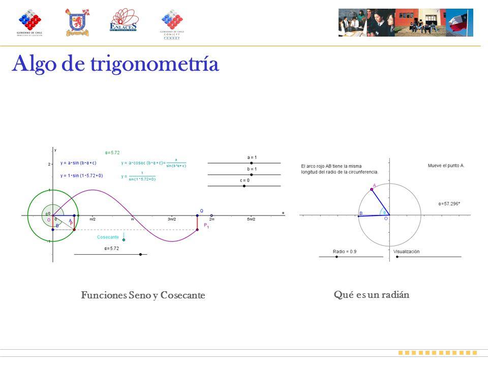 Funciones Seno y Cosecante Qué es un radián Algo de trigonometría
