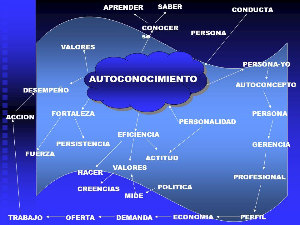 VALORES APRENDER CONOCER se SABER CONDUCTA PERSONA PERSONA-YO PERSONALIDAD EFICIENCIA HACER ACTITUD VALORES CREENCIAS MIDE POLITICA FORTALEZA FUERZA DESEMPEÑO ACCION TRABAJO AUTOCONCEPTO AUTOCONOCIMIENTO PERSONA GERENCIA PROFESIONAL PERFILECONOMIA DEMANDAOFERTA PERSISTENCIA