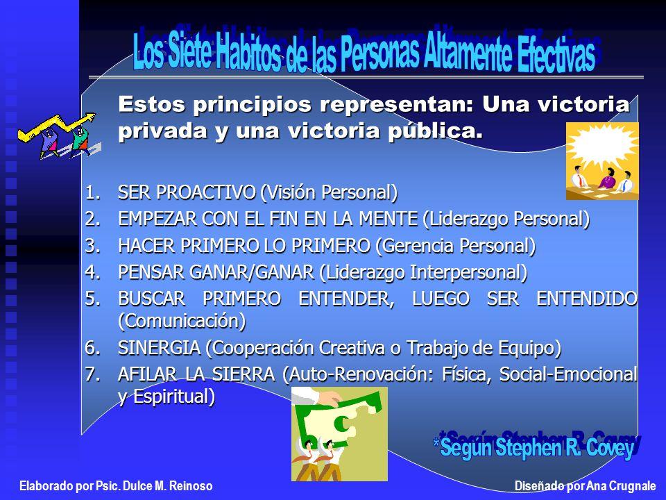 Estos principios representan: Una victoria privada y una victoria pública.
