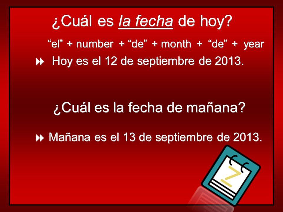 Los Días: ¿Qué día es hoy. = What day is today. Los Días: ¿Qué día es hoy.