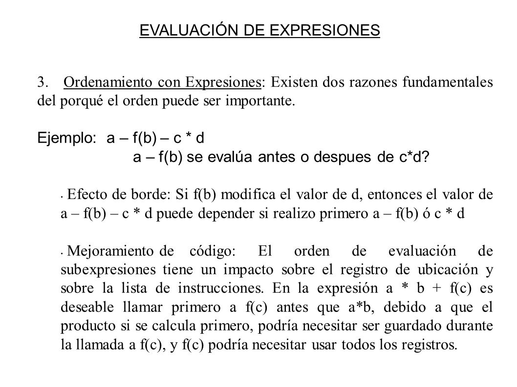 EVALUACIÓN DE EXPRESIONES 3.