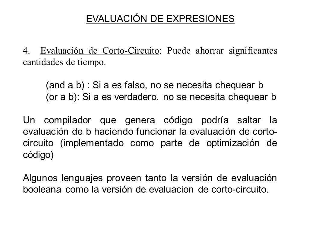 EVALUACIÓN DE EXPRESIONES 4.