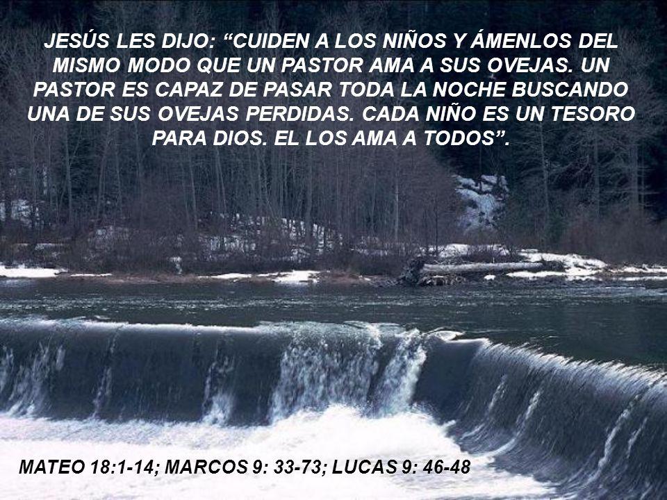 LOS AMIGOS SE ESTREMECIERON AL OÍR ESTO. MIRARON AL NIÑO SENTADO EN EL REGAZO DE JESÚS.