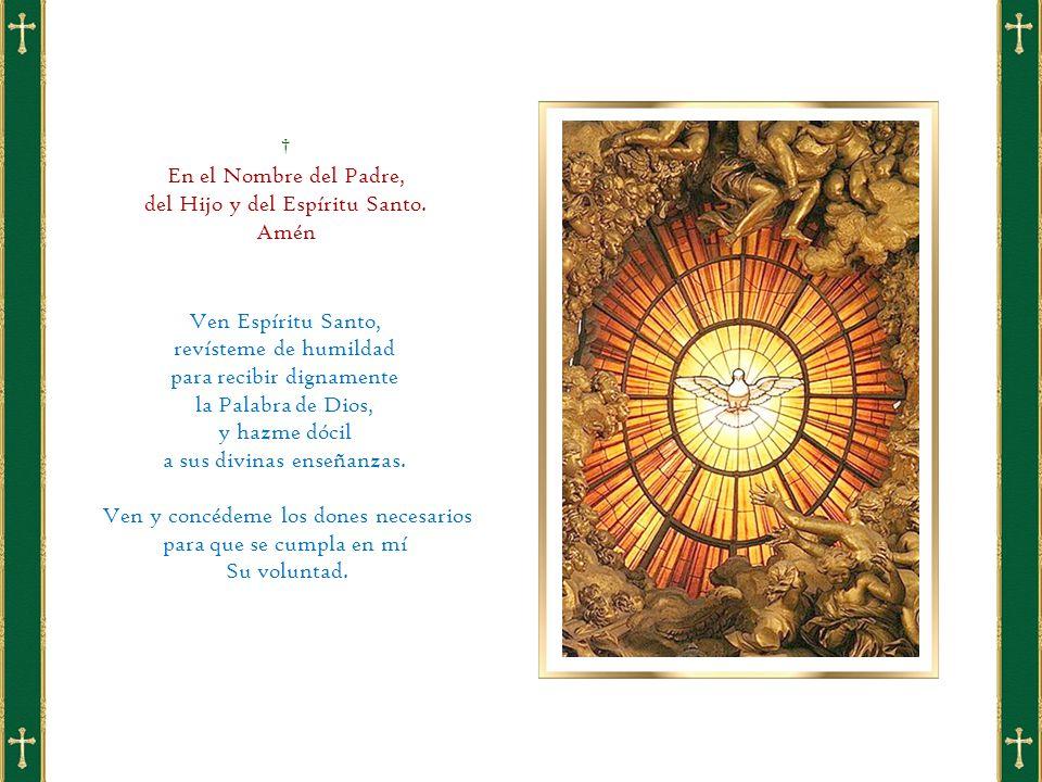 † En el Nombre del Padre, del Hijo y del Espíritu Santo.
