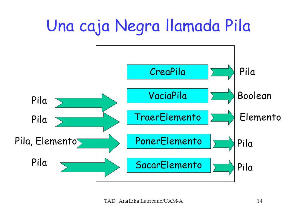 TAD_Ana Lilia Laureano/UAM-A13 Se deben incluir a la descripción anterior el tipo de datos que se recibe y el tipo de datos que se produce (dominio y codominio).
