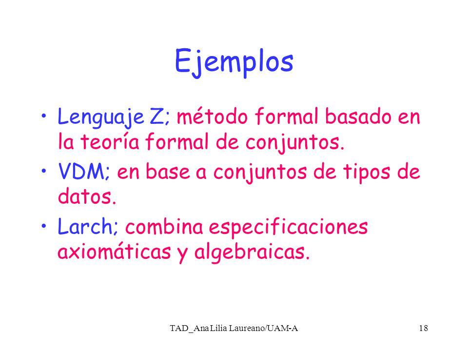 TAD_Ana Lilia Laureano/UAM-A17 Verificación Formal Esta representada por técnicas para preevenir errores en la etapa de diseño y de codificación, sin tener que ejecutar el programa.