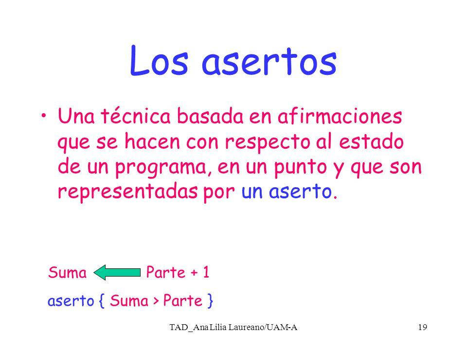 TAD_Ana Lilia Laureano/UAM-A18 Ejemplos Lenguaje Z; método formal basado en la teoría formal de conjuntos.