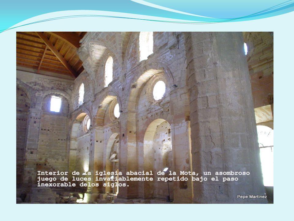 Audiovisual en el interior de la iglesia abacial