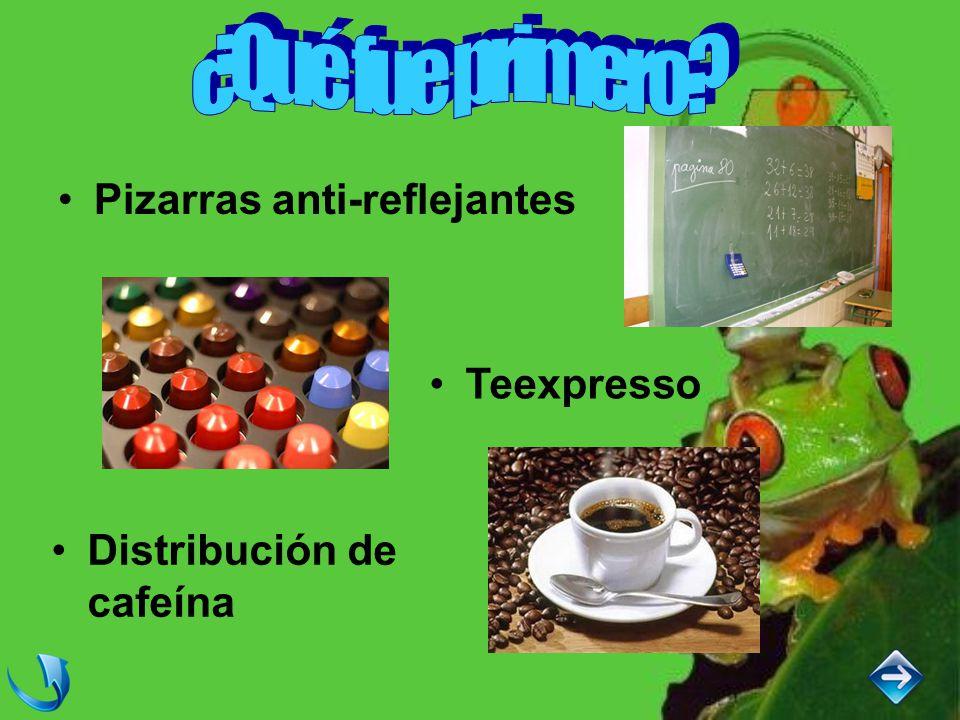 Pizarras anti-reflejantes Teexpresso Distribución de cafeína
