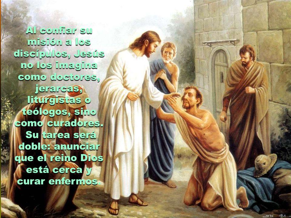 Habla luego de hacernos cargo de las personas, acompañándolas como el buen samaritano que lava, limpia y consuela .