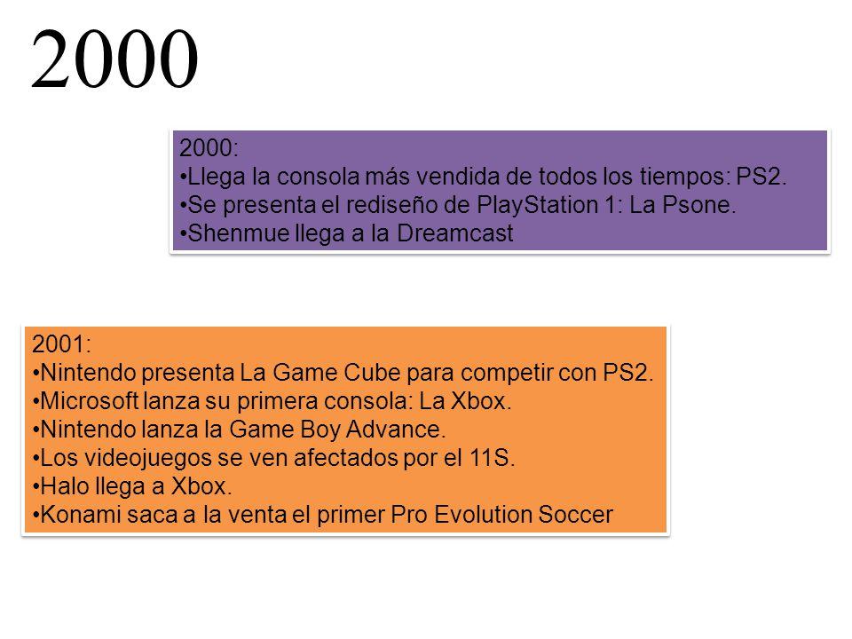 2000 2000: Llega la consola más vendida de todos los tiempos: PS2.