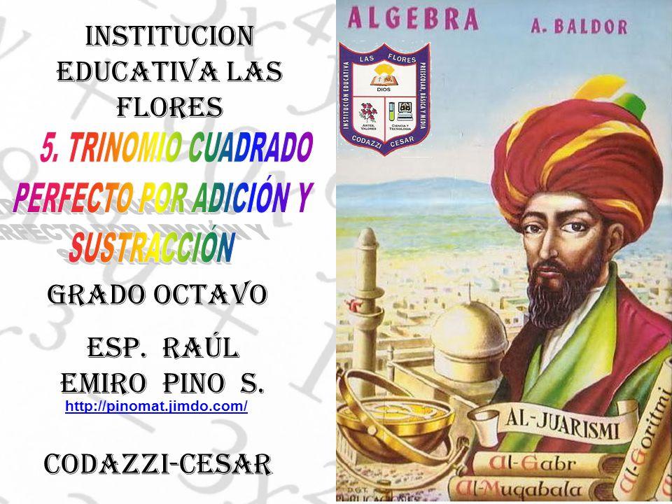 INSTITUCION EDUCATIVA LAS FLORES ESP. RAÚL EMIRO PINO S.