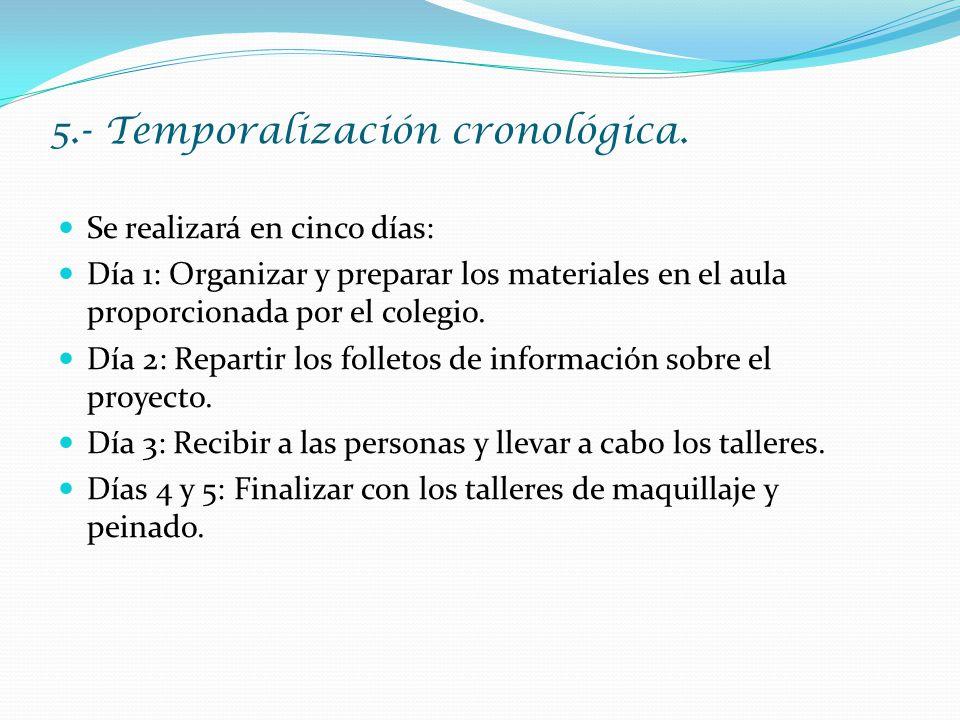 5.- Temporalización cronológica.