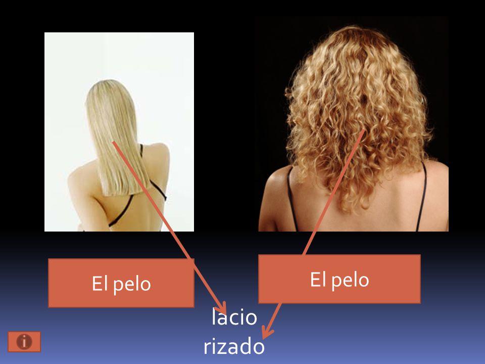 El pelo lacio rizado