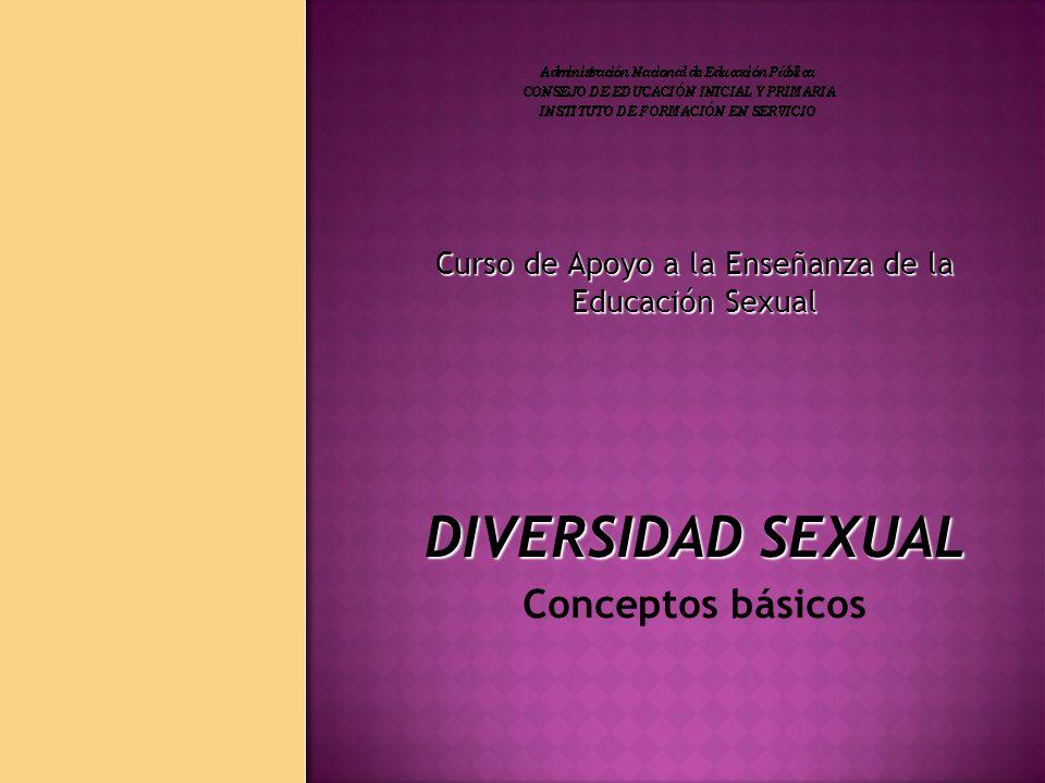 Curso de Apoyo a la Enseñanza de la Educación Sexual DIVERSIDAD SEXUAL Conceptos básicos