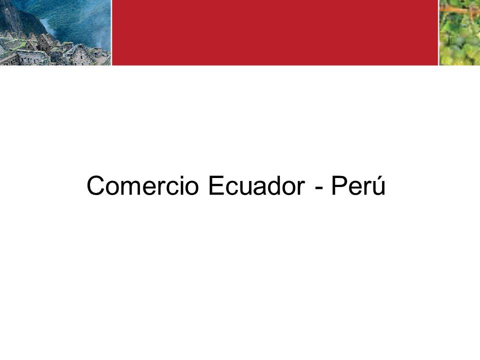 Comercio Ecuador - Perú