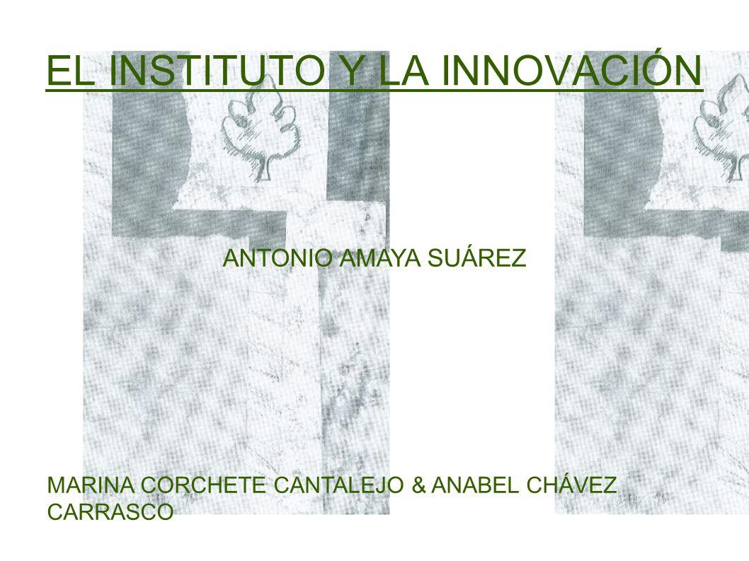 EL INSTITUTO Y LA INNOVACIÓN ANTONIO AMAYA SUÁREZ MARINA CORCHETE CANTALEJO & ANABEL CHÁVEZ CARRASCO