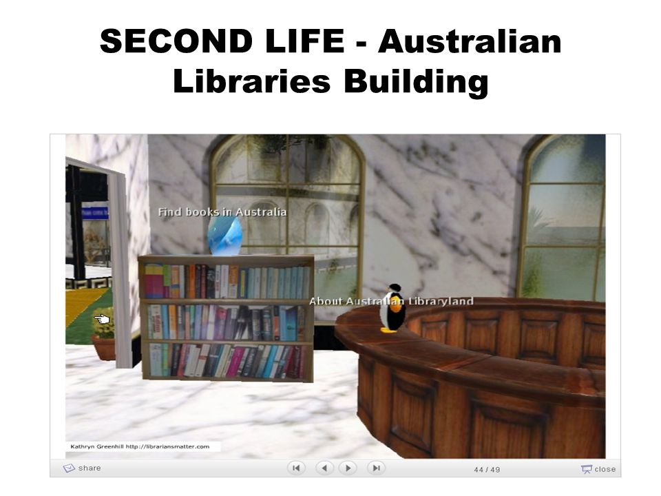 SECOND LIFE - Australian Libraries Building