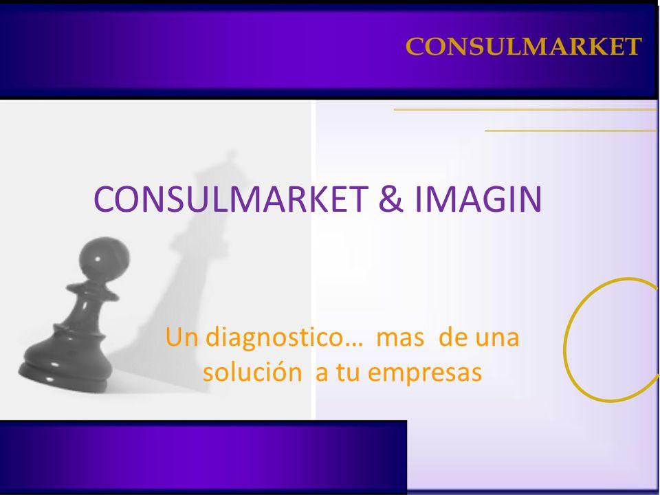 CONSULMARKET & IMAGIN Un diagnostico… mas de una solución a tu empresas