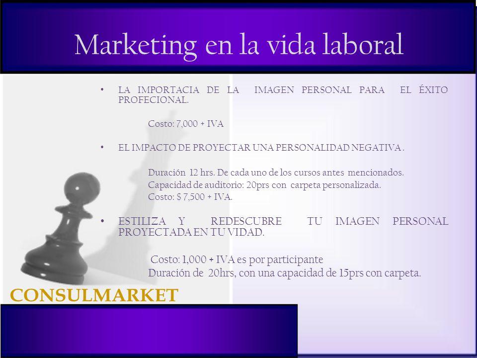 Marketing en la vida laboral LA IMPORTACIA DE LA IMAGEN PERSONAL PARA EL ÉXITO PROFECIONAL.