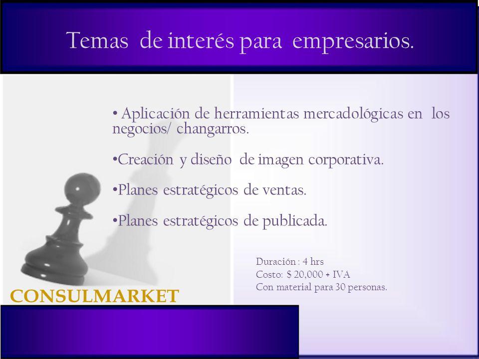 Temas de interés para empresarios.