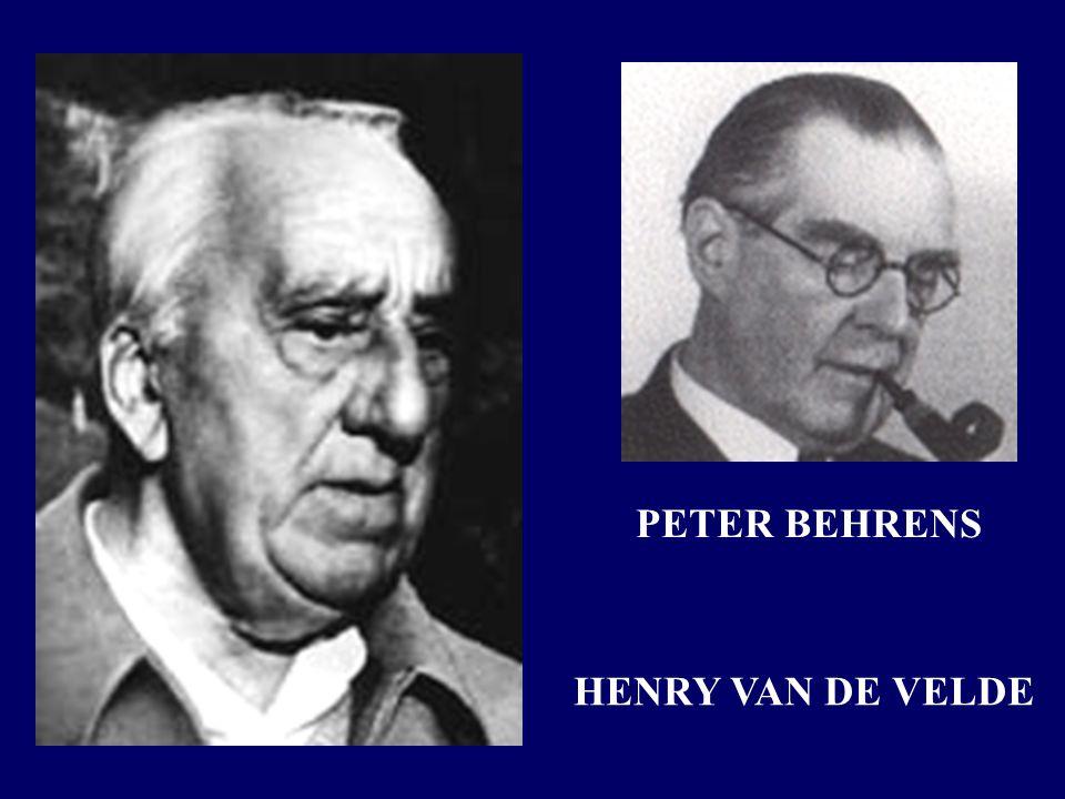 HENRY VAN DE VELDE PETER BEHRENS