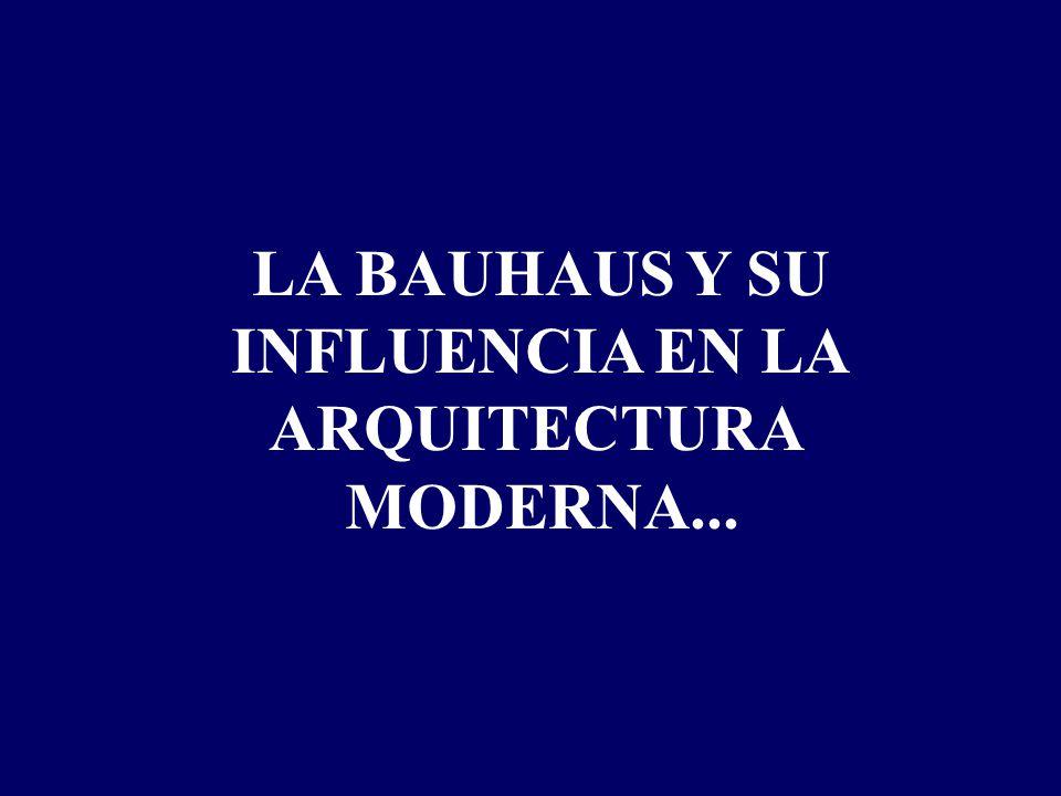 LA BAUHAUS Y SU INFLUENCIA EN LA ARQUITECTURA MODERNA...