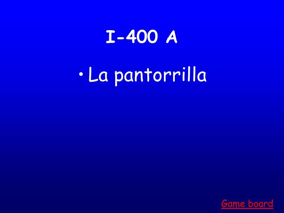 I-300 A La pierna Game board