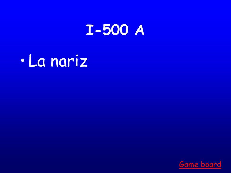 I-400 A La pantorrilla Game board