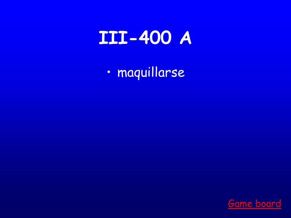 III-300 A Bañarse Game board