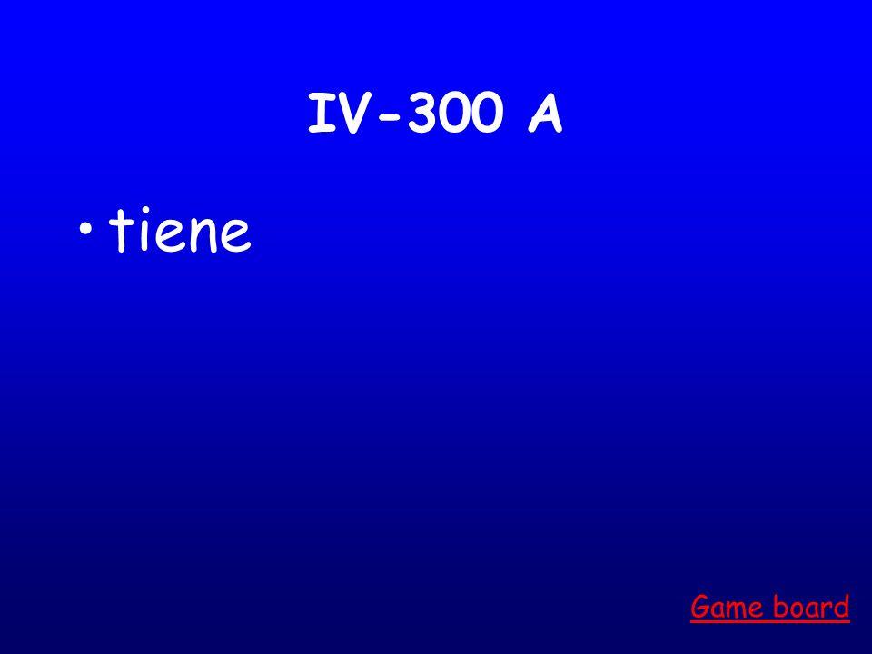 IV-200 A Me siento Estoy Game board
