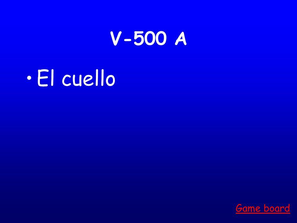 V-400 A La mano Game board