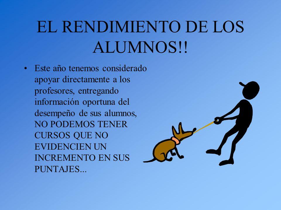 EL RENDIMIENTO DE LOS ALUMNOS!.